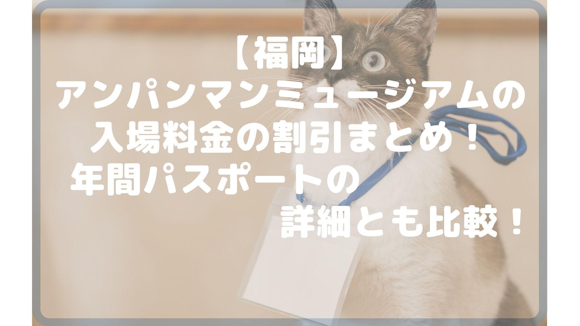 【福岡】アンパンマンミュージアムの入場料金の割引まとめ!年間パスポートの詳細とも比較!タイトル画像
