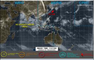 アメリカJTWCの12日6時の台風画像