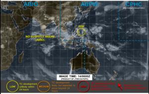 アメリカJTWCの14日台風画像