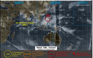 アメリカJTWCの15日14時の台風画像