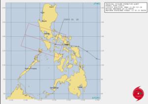 アメリカJTWCの15日台風進路画像