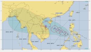 アメリカJTWCの16日台風進路画像