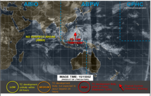アメリカJTWCの16日0時の台風画像