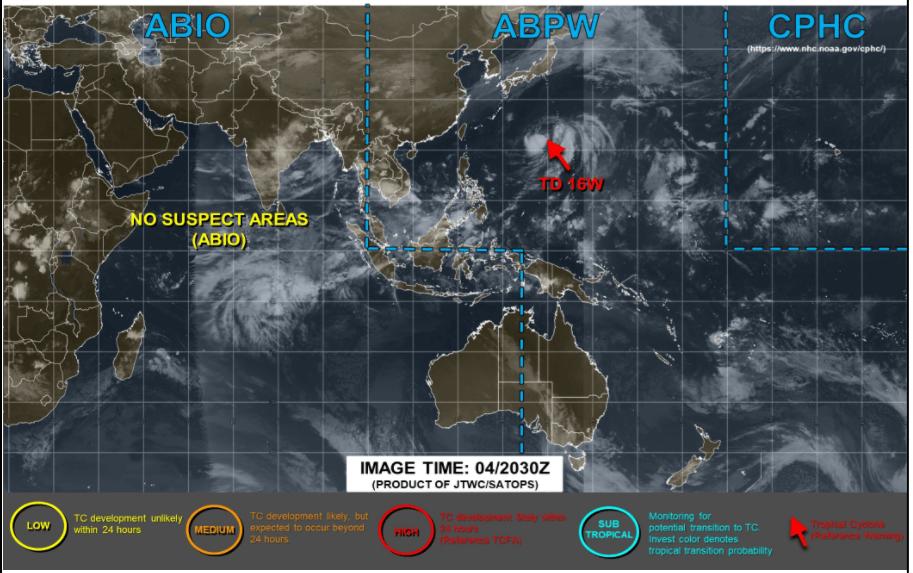 アメリカJTWCの5日台風画像