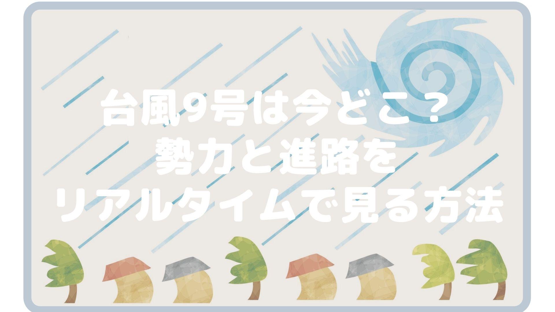 台風9号は今どこ?勢力と進路をリアルタイムで見る方法タイトル画像