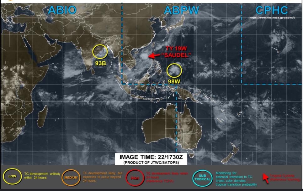 アメリカJTWCの23日台風画像