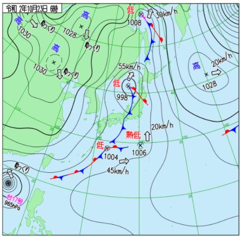 気象庁の天気図画像
